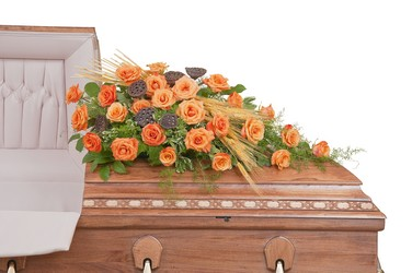Fall Splendor Casket Spray from Monrovia Floral in Monrovia, CA