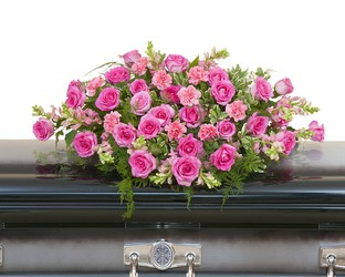 Peaceful Pink Casket Spray from Monrovia Floral in Monrovia, CA