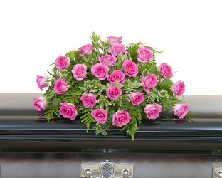 Pink Rose Casket Spray from Monrovia Floral in Monrovia, CA