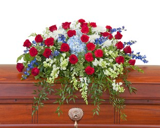 Honor Casket Spray from Monrovia Floral in Monrovia, CA
