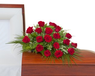 Simply Roses Casket Spray from Monrovia Floral in Monrovia, CA