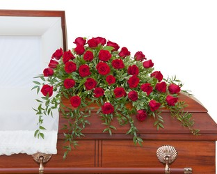 Simply Roses Deluxe Casket Spray from Monrovia Floral in Monrovia, CA
