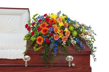 Treasured Celebration Casket Spray from Monrovia Floral in Monrovia, CA