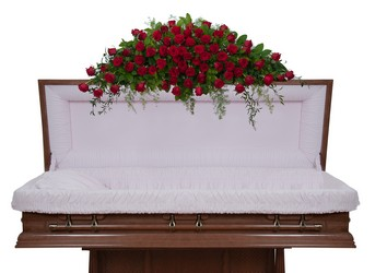 Royal Rose Full Casket Spray from Monrovia Floral in Monrovia, CA