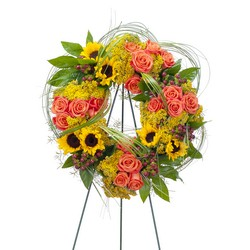 Heaven's Sunset Wreath from Monrovia Floral in Monrovia, CA